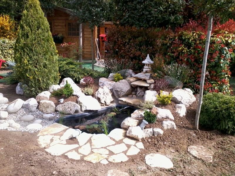 Cr ation d 39 un bassin et fontaine paysagiste aix en for Fontaine et bassin